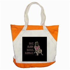 Eat, Sleep, Bark, Repeat Pug Accent Tote Bag