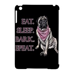 Eat, Sleep, Bark, Repeat Pug Apple Ipad Mini Hardshell Case (compatible With Smart Cover) by Valentinaart