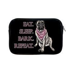 Eat, Sleep, Bark, Repeat Pug Apple Ipad Mini Zipper Cases by Valentinaart