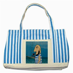 Sailor Striped Blue Tote Bag by Valentinaart