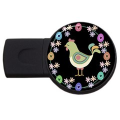 Easter Usb Flash Drive Round (4 Gb) by Valentinaart