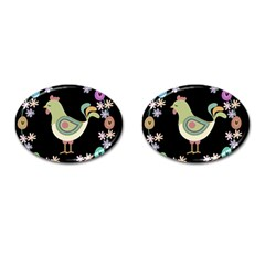 Easter Cufflinks (oval) by Valentinaart