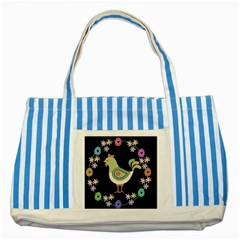 Easter Striped Blue Tote Bag by Valentinaart