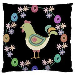 Easter Large Flano Cushion Case (one Side) by Valentinaart