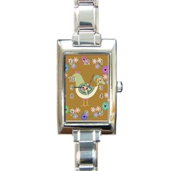Easter Rectangle Italian Charm Watch by Valentinaart
