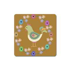 Easter Square Magnet by Valentinaart