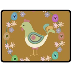 Easter Fleece Blanket (large)  by Valentinaart