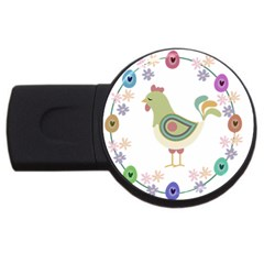 Easter Usb Flash Drive Round (2 Gb) by Valentinaart