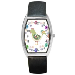 Easter Barrel Style Metal Watch