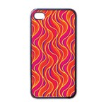 Pattern Apple iPhone 4 Case (Black) Front
