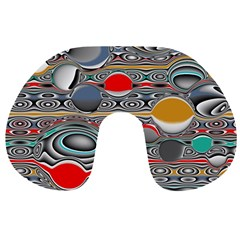 Changing Forms Abstract Travel Neck Pillows by digitaldivadesigns