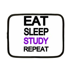 Eat Sleep Study Repeat Netbook Case (small)  by Valentinaart