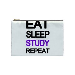 Eat Sleep Study Repeat Cosmetic Bag (medium)