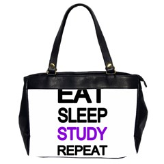Eat Sleep Study Repeat Office Handbags (2 Sides)