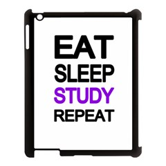 Eat Sleep Study Repeat Apple Ipad 3/4 Case (black) by Valentinaart