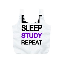 Eat Sleep Study Repeat Full Print Recycle Bags (s)