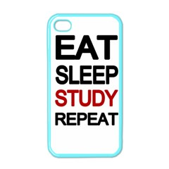 Eat Sleep Study Repeat Apple Iphone 4 Case (color) by Valentinaart