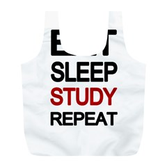 Eat Sleep Study Repeat Full Print Recycle Bags (l)