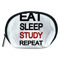 Eat Sleep Study Repeat Accessory Pouches (medium)  by Valentinaart