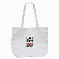 Eat Sleep Study Repeat Tote Bag (white) by Valentinaart