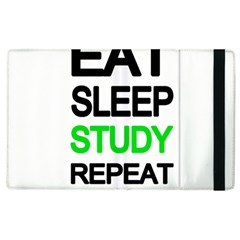 Eat Sleep Study Repeat Apple Ipad 2 Flip Case by Valentinaart