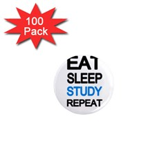 Eat Sleep Study Repeat 1  Mini Magnets (100 Pack)  by Valentinaart
