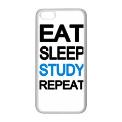 Eat Sleep Study Repeat Apple Iphone 5c Seamless Case (white) by Valentinaart