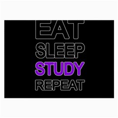 Eat Sleep Study Repeat Large Glasses Cloth (2 Side)