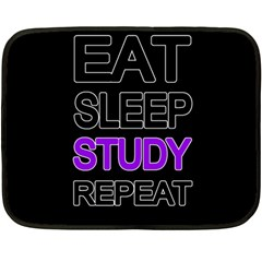 Eat Sleep Study Repeat Fleece Blanket (mini) by Valentinaart