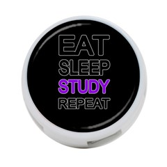 Eat Sleep Study Repeat 4 Port Usb Hub (two Sides)  by Valentinaart