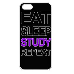 Eat Sleep Study Repeat Apple Iphone 5 Seamless Case (white)