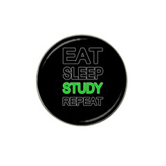 Eat Sleep Study Repeat Hat Clip Ball Marker (10 Pack) by Valentinaart