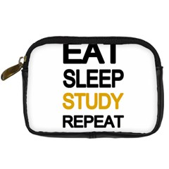 Eat Sleep Study Repeat Digital Camera Cases by Valentinaart