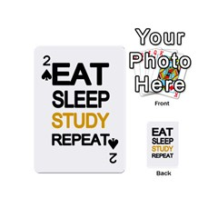 Eat Sleep Study Repeat Playing Cards 54 (mini)  by Valentinaart