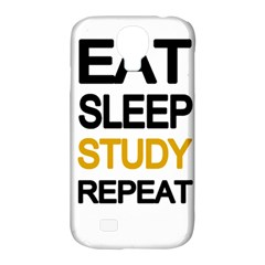 Eat Sleep Study Repeat Samsung Galaxy S4 Classic Hardshell Case (pc+silicone) by Valentinaart
