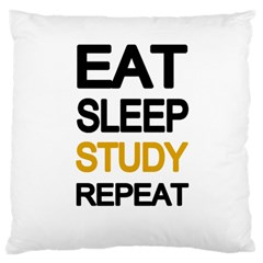 Eat Sleep Study Repeat Large Flano Cushion Case (two Sides) by Valentinaart