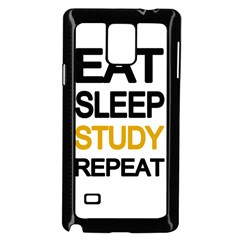 Eat Sleep Study Repeat Samsung Galaxy Note 4 Case (black)