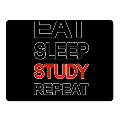Eat Sleep Study Repeat Fleece Blanket (small) by Valentinaart