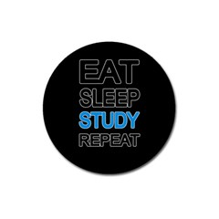 Eat Sleep Study Repeat Magnet 3  (round) by Valentinaart