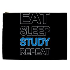 Eat Sleep Study Repeat Cosmetic Bag (xxl)  by Valentinaart