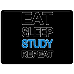 Eat Sleep Study Repeat Double Sided Fleece Blanket (large)  by Valentinaart