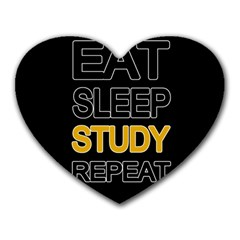 Eat Sleep Study Repeat Heart Mousepads by Valentinaart