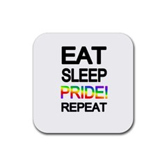 Eat Sleep Pride Repeat Rubber Square Coaster (4 Pack)