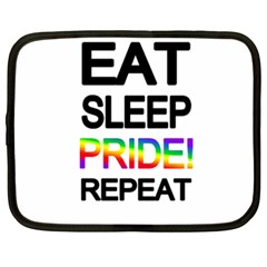 Eat Sleep Pride Repeat Netbook Case (xxl)  by Valentinaart