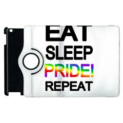 Eat Sleep Pride Repeat Apple Ipad 2 Flip 360 Case by Valentinaart