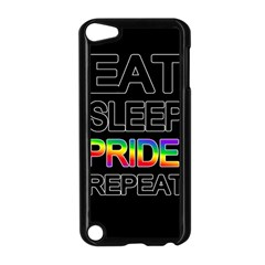 Eat Sleep Pride Repeat Apple Ipod Touch 5 Case (black) by Valentinaart