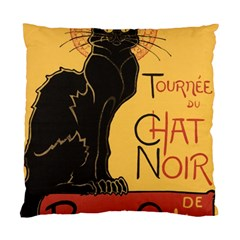 Black Cat Standard Cushion Case (one Side) by Valentinaart