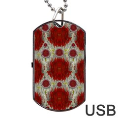 Paint On Water Falls,in Peace And Calm Dog Tag Usb Flash (two Sides) by pepitasart