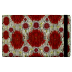 Paint On Water Falls,in Peace And Calm Apple Ipad 3/4 Flip Case by pepitasart