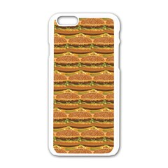 Delicious Burger Pattern Apple Iphone 6/6s White Enamel Case by berwies